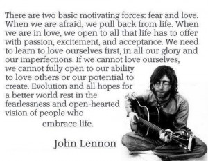 John Lennon; Fear & Love