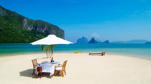 Des Download Romantic Lunch Table In The Lonely Beach Wallpaper In Hd
