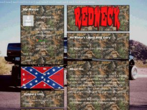 Redneck Trucks - Hunting MySpace Layout Preview