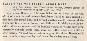 Why the attack on Pearl Harbor happened when it did.