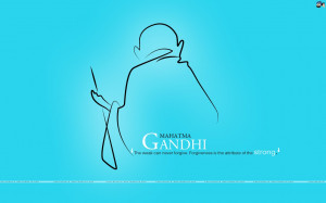 ... caption: SMILE: Mahathma Gandhiji __ THERE IS NO GOD HIGHER THEN TRUTH