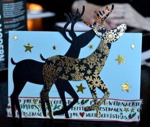 simple christmas card ideas reindeer