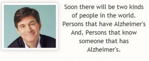 Dr Oz Alzheimer's Quote