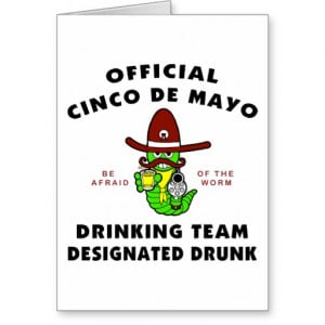 Cinco Mayo Designated Drunk Cards Eff