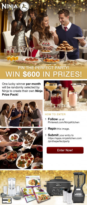 Ninja Kitchen Pin the Perfect Party Sweepstakes #NinjaKitchen # ...