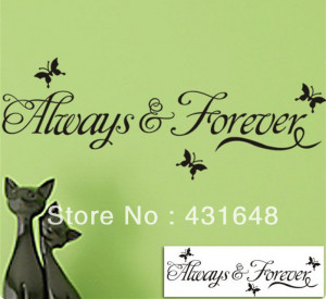 Removable wall quotes Always & Forever Original Butterflys Vinyl Wall ...