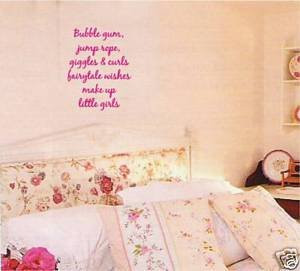 Bubble Gum Wall Words Sticker Quotes Sayings Art Decor