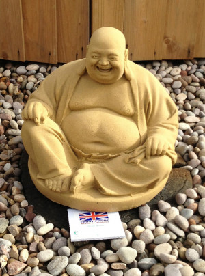 Large Fat Stone Buddha