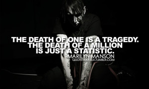 39 notes # death # marilyn manson # quotes # quote