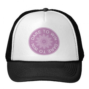 Motivational 3 Word Quotes ~Dare To Win~ Mesh Hat