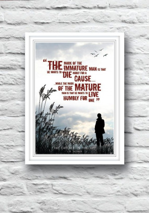 The Catcher in the Rye Quote poster J.D. Salinger by Redpostbox, £8 ...