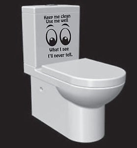 ... Decal-Decor-Bathroom-Ensuit-Vinyl-Wall-Stickers-Sign-Funny-Quote-Home