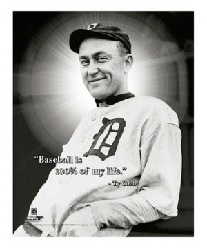 Ty Cobb I Pro Quote Canvas
