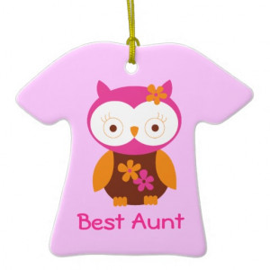 Personalized Best Aunt Owl Keepsake Ornament Gift