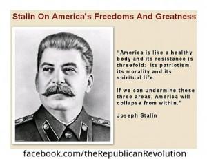 Joseph Stalin on America...