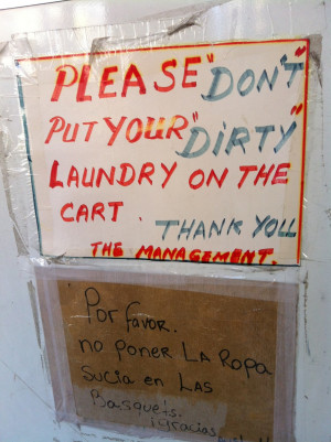 "Dirty"" laundry is obviously clothes you wore once but it's neither ..."