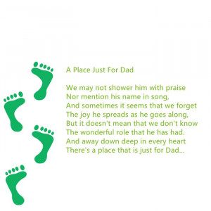 Meaningful Happy Father's Day Poems For Kids With Footprints