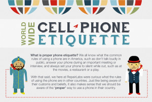 Infographic: Cell Phone Etiquette Around The World