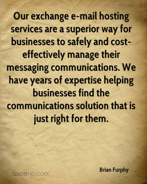 Our exchange e-mail hosting services are a superior way for businesses ...