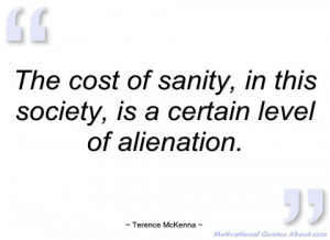 the cost of sanity terence mckenna