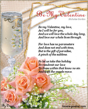 be my valentine love poem for valentine s day