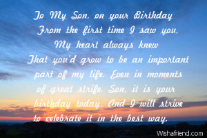 To My Son, on your Birthday