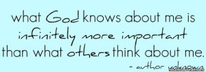 What God Knows About Me
