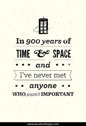 Doctor Who Quotes Important