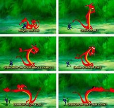 Day 6: Mushu is my favorite animal. He's HILARIOUS. He makes that ...