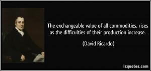 More David Ricardo Quotes