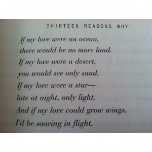 Thirteen Reasons Why: Fave Poems, Books Thirteen, Books 3, Books Quote ...