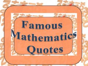 Mathematics quotations