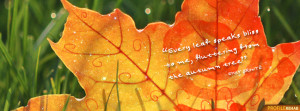 Fall Quotes Facebook Cover