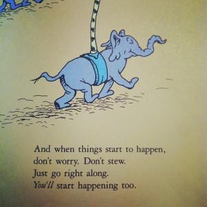 ... book elephant stress Dr. Seuss gmh oh the places you'll go drseuss