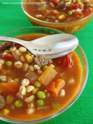 Beef Barley Vegetable Soup...