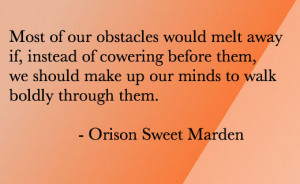Motivational Quote – Moving Obstacles
