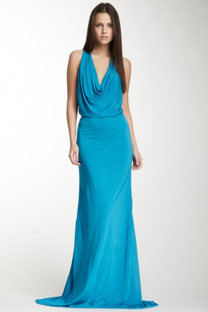 so low up top. *sigh* Azrouel Halter, Maxi Dresses, Yigal Azrouel ...
