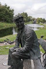 Brendan Behan's statue near