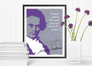 Beethoven Quote, Quote Print, Music Quotes, Composers, Music Art, Wall ...