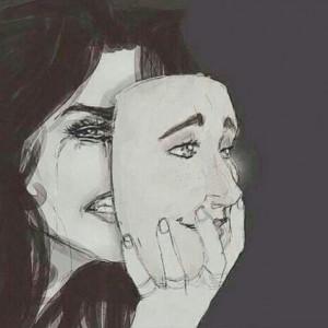 ... , make up, mask, reality, sad, smile, tears, First Set on Favim.com
