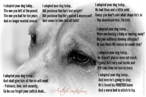 Dog quote. I adopted your dog today.