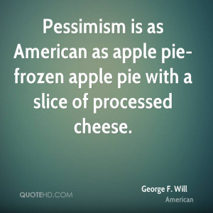 Pessimism is as American as apple pie-frozen apple pie with a slice of ...