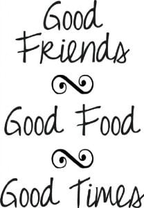 good food good friends good times wall decal quotes art for home china