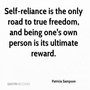 Self Reliance The Only Road