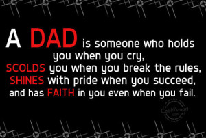 Father Quote: A dad is someone you never outgrow...