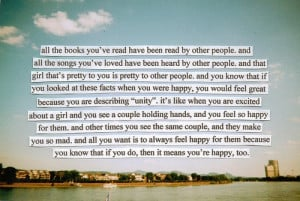 ... being a Wallflower. I have this exact passage underlined in my book