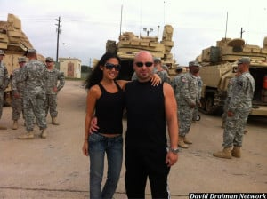 Report David Draiman And Lena Yada Visit Ft Hood This Morning picture