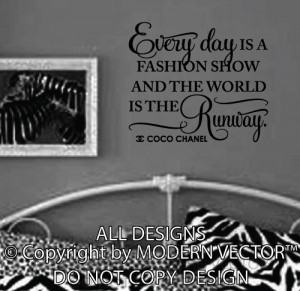 Details about Coco Chanel Quote Vinyl Wall Decal Lettering THE WORLD ...