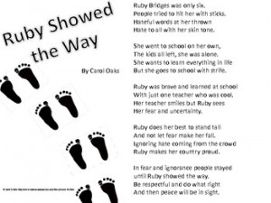 Black History Month Poem - Ruby Showed the Way