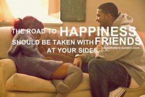 ... drake and rihanna, friends, friendship, happiness, rihanna, road, sent